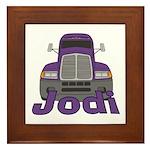 Trucker Jodi Framed Tile