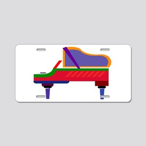 Funky Piano Aluminum License Plate