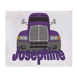 Trucker Josephine Throw Blanket