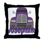 Trucker Josephine Throw Pillow