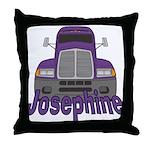 Trucker Josephine Throw Pillow