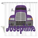 Trucker Josephine Shower Curtain