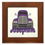 Trucker Josephine Framed Tile