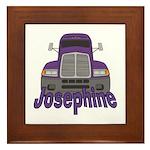 Trucker Josephine Framed Tile