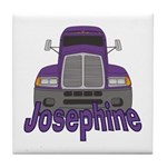 Trucker Josephine Tile Coaster