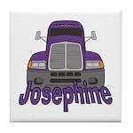Trucker Josephine Tile Coaster