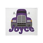 Trucker Joyce Throw Blanket