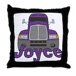 Trucker Joyce Throw Pillow