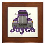 Trucker Joyce Framed Tile