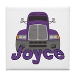 Trucker Joyce Tile Coaster