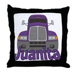 Trucker Juanita Throw Pillow