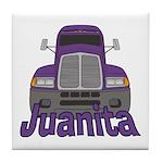 Trucker Juanita Tile Coaster