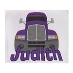 Trucker Judith Throw Blanket