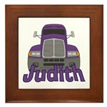 Trucker Judith Framed Tile
