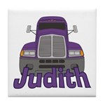 Trucker Judith Tile Coaster