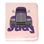 Trucker Judy baby blanket