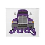 Trucker Judy Throw Blanket