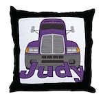 Trucker Judy Throw Pillow