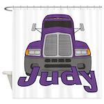 Trucker Judy Shower Curtain