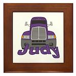 Trucker Judy Framed Tile