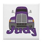 Trucker Judy Tile Coaster