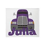 Trucker Julia Throw Blanket