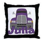 Trucker Julia Throw Pillow