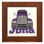 Trucker Julia Framed Tile