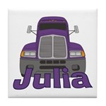 Trucker Julia Tile Coaster