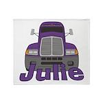 Trucker Julie Throw Blanket