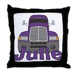 Trucker Julie Throw Pillow
