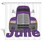 Trucker Julie Shower Curtain