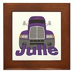 Trucker Julie Framed Tile