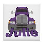 Trucker Julie Tile Coaster
