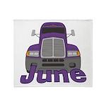 Trucker June Throw Blanket