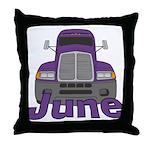 Trucker June Throw Pillow