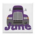 Trucker June Tile Coaster