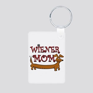 Wiener Mom/Oktoberfest Aluminum Photo Keychain