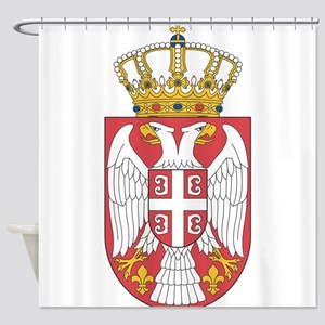 Serbia Lesser Coat Of Arms Shower Curtain