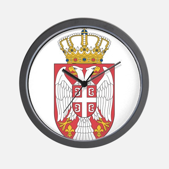 Serbia Lesser Coat Of Arms Wall Clock