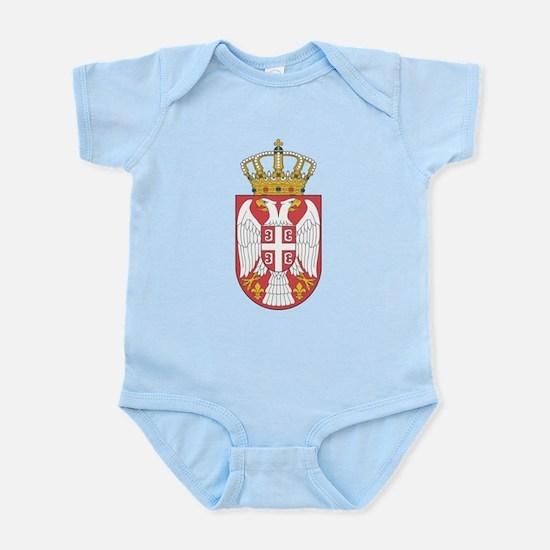 Serbia Lesser Coat Of Arms Infant Bodysuit