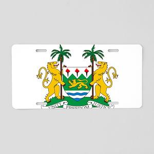 Sierra Leone Coat Of Arms Aluminum License Plate