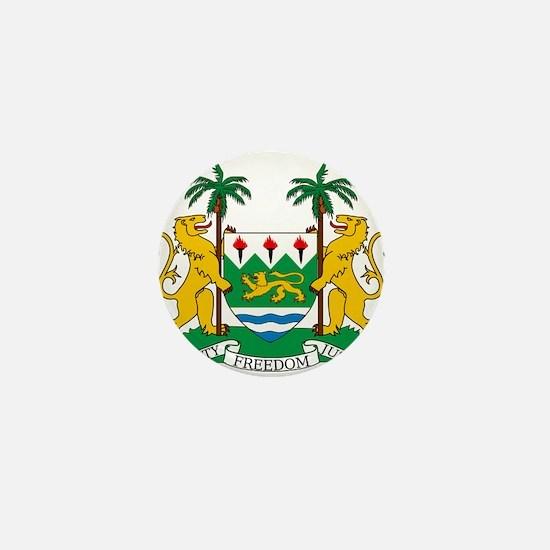 Sierra Leone Coat Of Arms Mini Button