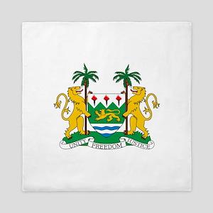 Sierra Leone Coat Of Arms Queen Duvet