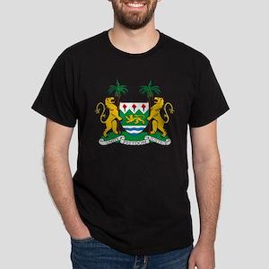 Sierra Leone Coat Of Arms Dark T-Shirt