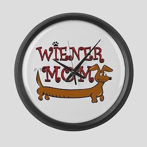 Wiener Mom/Oktoberfest Large Wall Clock