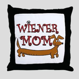 Wiener Mom/Oktoberfest Throw Pillow
