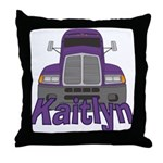 Trucker Kaitlyn Throw Pillow
