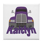 Trucker Kaitlyn Tile Coaster
