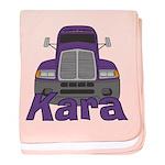 Trucker Kara baby blanket